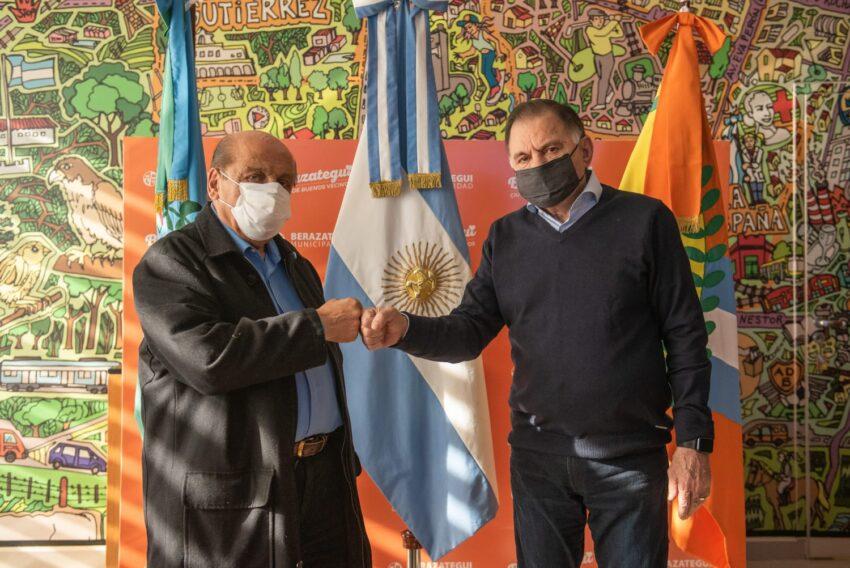 Con el intendente Juan José Mussi, un camino compartido